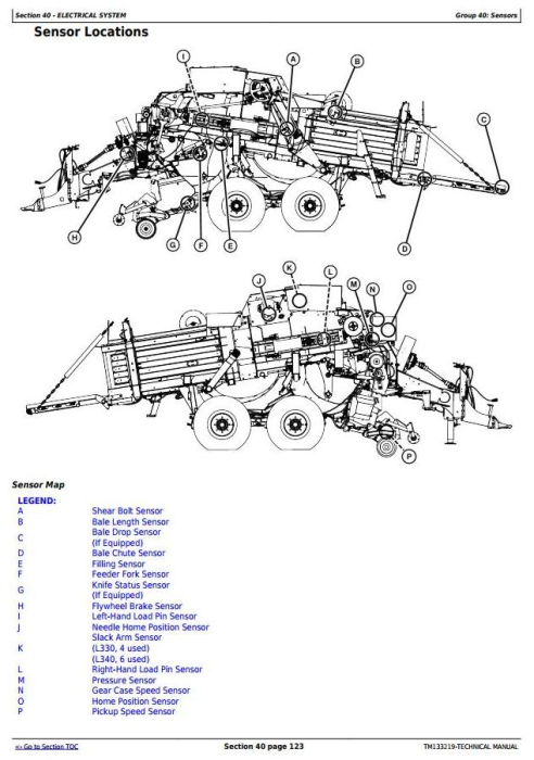 First Additional product image for - John Deere L330,L330C, L340,L340C Hay&forage Large Square Balers Technical Service Manual (TM133219)