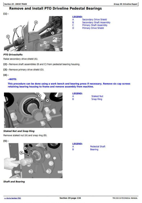 Second Additional product image for - John Deere L330,L330C, L340,L340C Hay&forage Large Square Balers Technical Service Manual (TM133219)