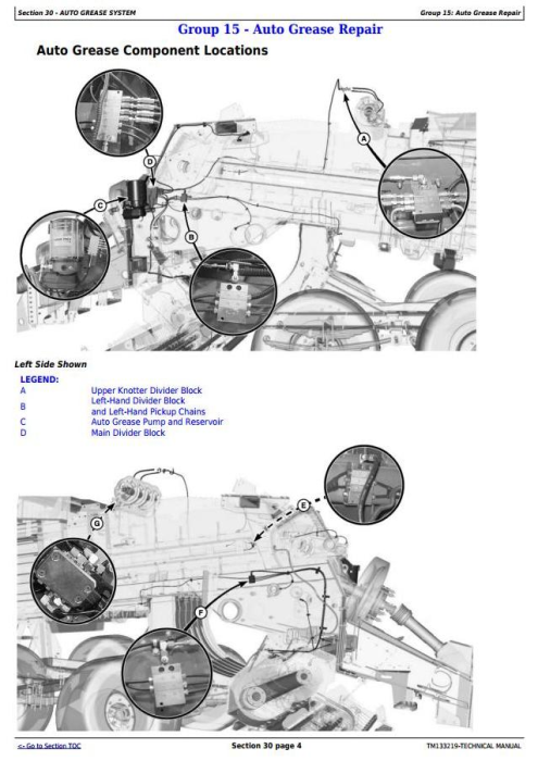 Fourth Additional product image for - John Deere L330,L330C, L340,L340C Hay&forage Large Square Balers Technical Service Manual (TM133219)