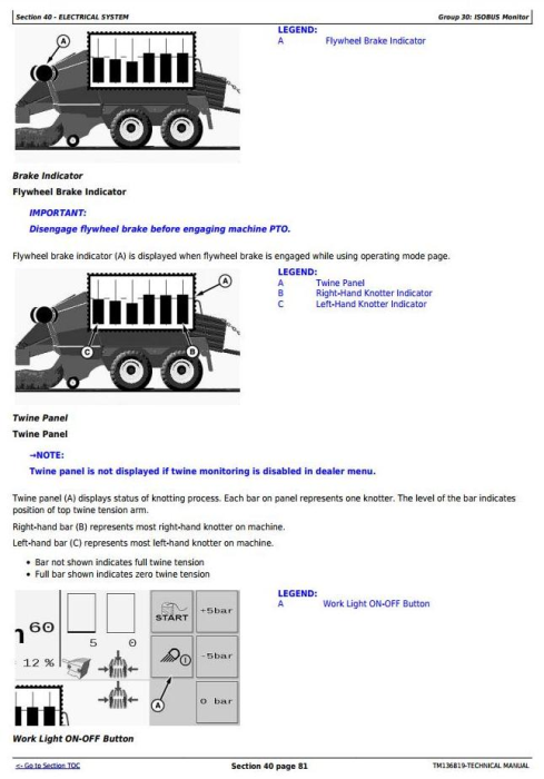 Fourth Additional product image for - John Deere L1524, L1533, L1534 Hay & Forage Large Square Balers Technical Service Manual (TM136819)