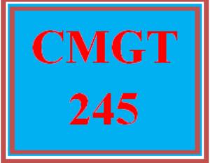 CMGT 245 Entire Course   eBooks   Education