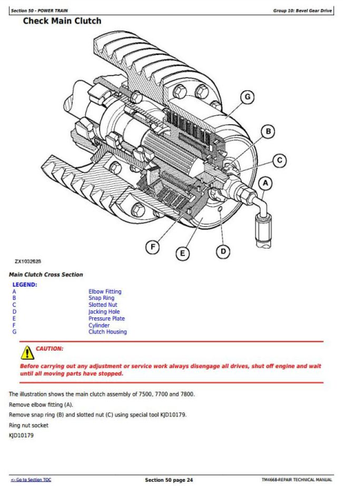 Second Additional product image for - John Deere 7200, 7300, 7400, 7500, 7700, 7800 Self-Propelled Forage Harvester Repair Manual (TM4668)
