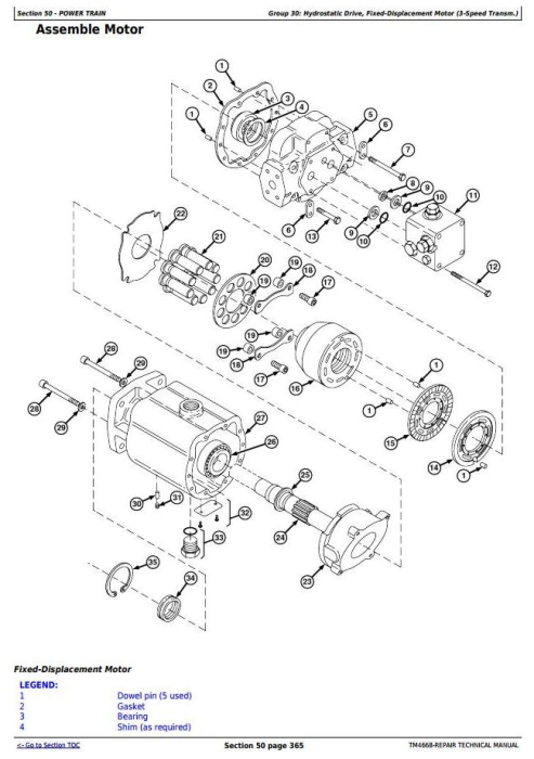 Third Additional product image for - John Deere 7200, 7300, 7400, 7500, 7700, 7800 Self-Propelled Forage Harvester Repair Manual (TM4668)