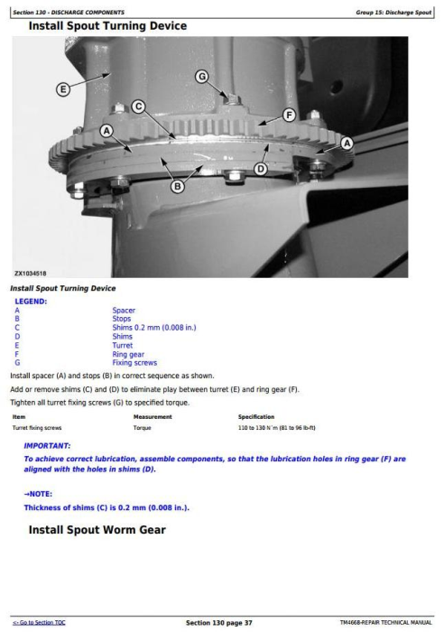 Fourth Additional product image for - John Deere 7200, 7300, 7400, 7500, 7700, 7800 Self-Propelled Forage Harvester Repair Manual (TM4668)