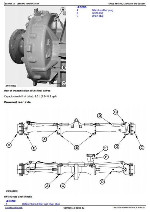 Second Additional product image for - John Deere 7250, 7350,7450, 7550, 7750,7850, 7950 Forage Harvesters Service Repair Manual (TM401419)
