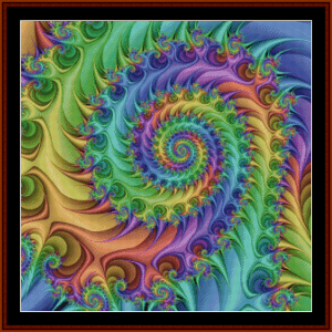 Fractal 714 cross stitch pattern by Cross Stitch Collectibles | Crafting | Cross-Stitch | Other