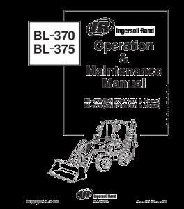 Download Bobcat Bl370 Bl-370 Bl375 Bl-375 Backhoe Loader Operation And Maintenance Service Manual | eBooks | Automotive