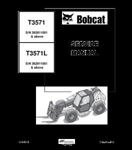 Download Bobcat T3571 T3571l Telescopic Handler Service Manual | eBooks | Automotive