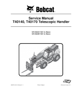 Download Bobcat T40140 T40170 Telescopic Handler Service Manual | eBooks | Automotive