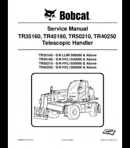 Download Bobcat Tr35160 Tr45190 Tr50210 Tr40250 Telescopic Handler Service Manual | eBooks | Automotive
