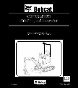 Download Bobcat  418 Compact Excavator Service Manual | eBooks | Automotive