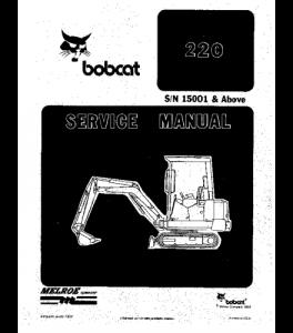 Download Bobcat Repair Hydraulic Excavator Service Manual   eBooks   Automotive