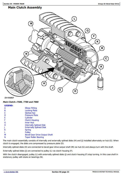 Third Additional product image for - John Deere 7180, 7280, 7380, 7480, 7580, 7780,7980 Forage Harvester Service Repair Manual (TM404419)