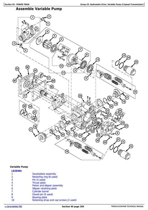 Fourth Additional product image for - John Deere 7180, 7280, 7380, 7480, 7580, 7780,7980 Forage Harvester Service Repair Manual (TM404419)