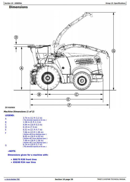 Second Additional product image for - John Deere 8100,8200,8300,8400,8500,8600,8700,8800 Forage Harvester Service Repair Manual (TM407119)