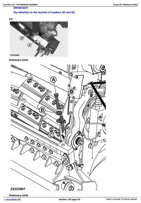 Fourth Additional product image for - John Deere 8100,8200,8300,8400,8500,8600,8700,8800 Forage Harvester Service Repair Manual (TM407119)
