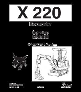 Download Bobcat  X220 Excavator Service Manual | eBooks | Automotive