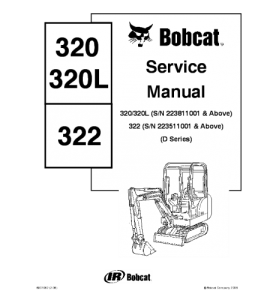 Download Bobcat 320 320l 322 Compact Excavator Service Manual | Crafting | Paper Crafting | Other