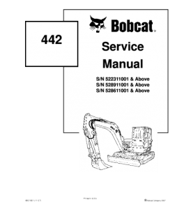 Download Bobcat 442 Compact Excavator Service Manual   eBooks   Automotive