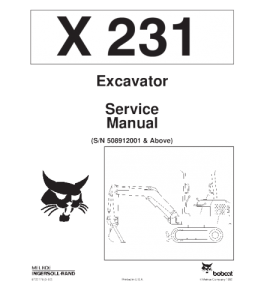 Download Bobcat  X231 Excavator Service Manual   eBooks   Automotive