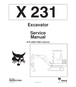 Download Bobcat  X231 Excavator Service Manual | eBooks | Automotive