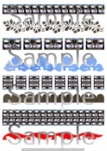 corsica 206 borders. a4 sheet. png format.