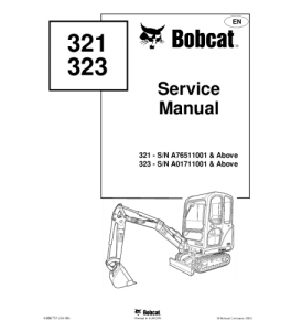 Download Bobcat 321 323 Compact Excavator Service Manual | Crafting | Paper Crafting | Other