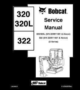 Download Bobcat 320 320l 322 Compact Excavator Service Manual | eBooks | Automotive