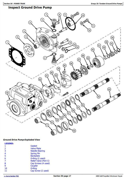 Fourth Additional product image for - John Deere 4890 Self-Propelled Hay and Forage Windrower Service Repair Technical Manual (tm1617)
