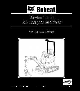 Download Bobcat E10 Compact Excavator Service Manual | eBooks | Automotive
