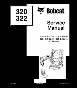 Download Bobcat 320 322 Compact Excavator Service Manual | eBooks | Automotive