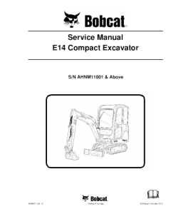Download Bobcat X325 Excavator Service Manual   eBooks   Automotive