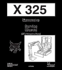 Download Bobcat X325 Excavator Service Manual | eBooks | Automotive