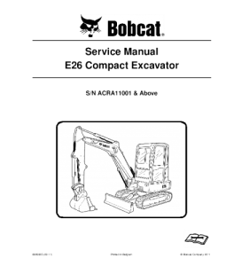 Download Bobcat Repair E26 Compact Excavator Service Manual | eBooks | Automotive