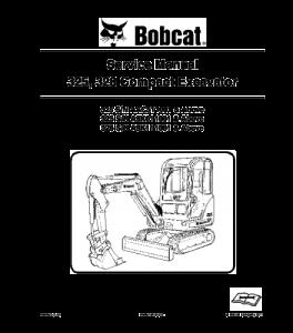 Download Bobcat 325 328 Compact Excavator Service Manual   eBooks   Automotive