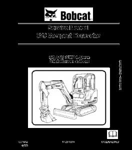 Download Bobcat 329 Compact Excavator Service Manual | eBooks | Automotive