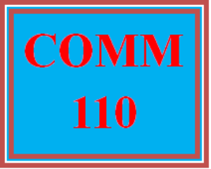 COMM 110 Entire Course | eBooks | Education