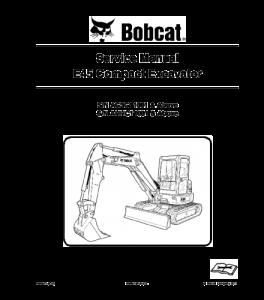 Download Bobcat Repair E45 Compact Excavator Service Manual | eBooks | Automotive