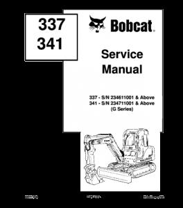 Download Bobcat 337 341 Compact Excavator Service Manual | eBooks | Automotive