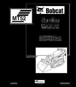 Download Bobcat Mt52 Mt55 Mini Track Loader Service Repair Manual   eBooks   Automotive