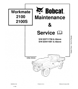 Bobcat Workmate Service Repair Manual   eBooks   Automotive