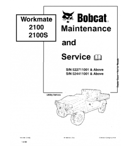 Download Bobcat  Workmate Utility Vehicle Service Repair Manual | eBooks | Automotive