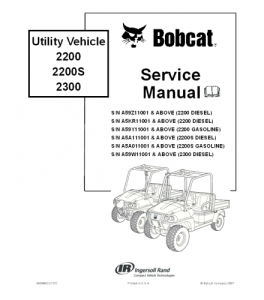 Download Bobcat Utility Vehicle Service Repair Manual | eBooks | Automotive