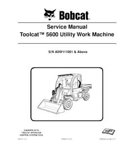 Download Bobcat Toolcat 5600 Work Machine Utility Vehicle Service Repair Manual | eBooks | Automotive