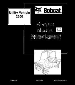 Download Bobcat Utility Vehicle Service Repair Manual | eBooks | Automotive