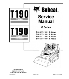 Download Bobcat T190 Turbo T190 Turbo High Flow Compact Track Loader Service Repair Manual | eBooks | Automotive