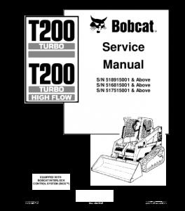 download bobcat t200 compact track loader service repair manual