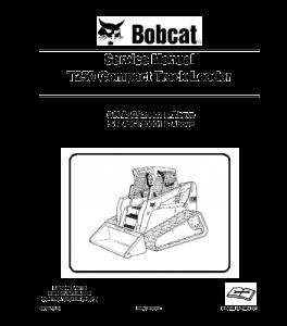download bobcat t250 compact track loader service repair manual
