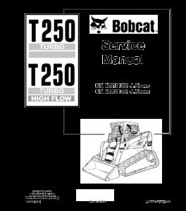 Download Bobcat T250 Compact Track Loader Service Repair Manual | eBooks | Automotive