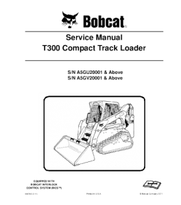 download bobcat t300 compact track loader service repair manual